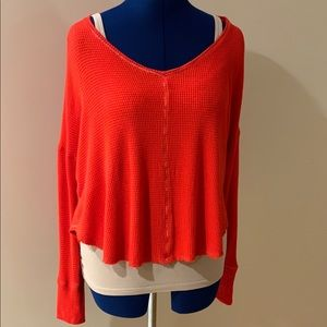 Anthropologie Saturday/Sunday Waffle Knit Top